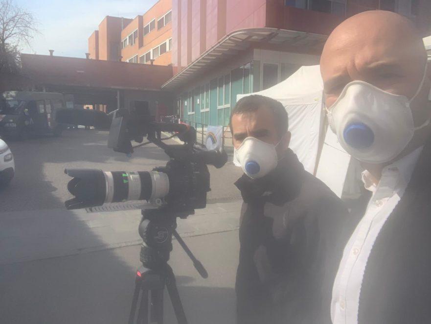 reporter mascherina
