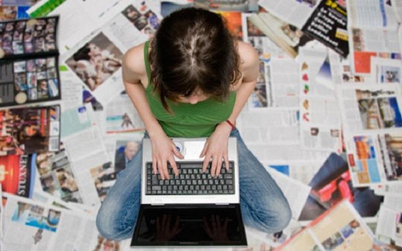 giornalista precaria computer giornali